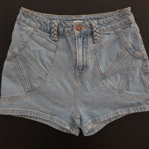 BDG Jean High Rise Short Shorts Cute Seaming